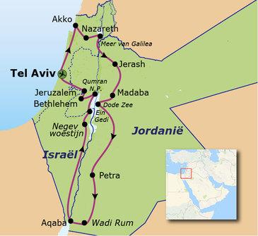 Route Jordanië en Israël, 13 dagen