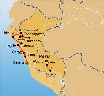 Route Noord-Peru, 22 dagen
