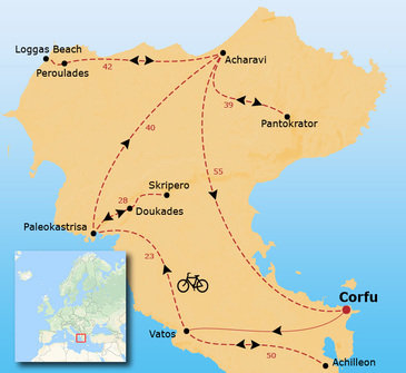 Fietsvakantie op Corfu