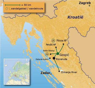 Route 10 daagse rondreis Kroatië Anders Reizen multi-actief