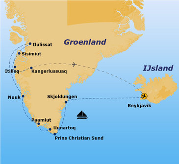 Route Groenland, 15 dagen