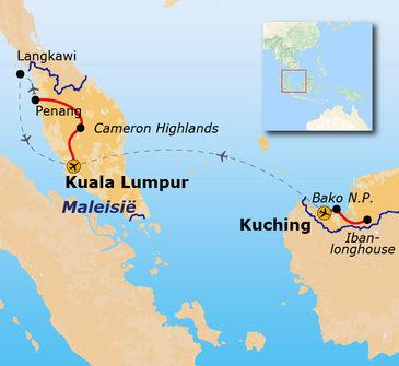 Route West Maleisië & Borneo, 19 dagen