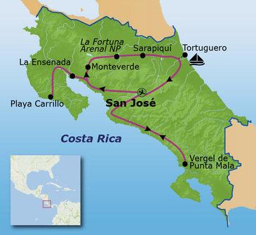 Route Costa Rica, 15 juli 2019, 15 dagen