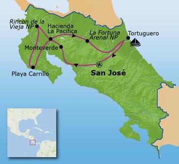 Route Costa Rica, 28 juli 2019, 16 dagen