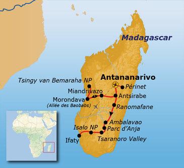 Route Madagascar 2020, 22 dagen