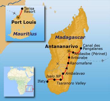 Route Madagascar & Mauritius, 22 dagen