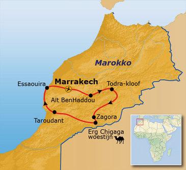 Route Marokko hoogtepunten, 10 dagen