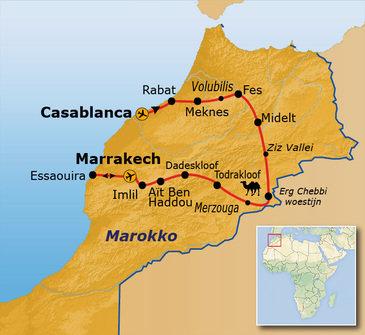 Route Marokko, 15 dagen, vanaf 2020