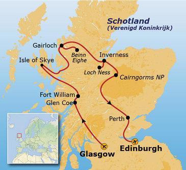 Route Schotland, 15 dagen