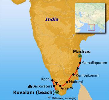 Route Zuid India Hoogtepunten, 16 dagen
