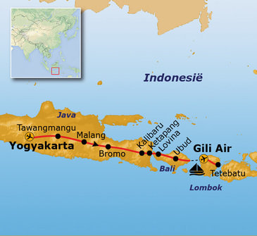 Route Java, Bali, Lombok & Gili Air, 22 dagen