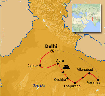 Route Noord-India, 15 dagen