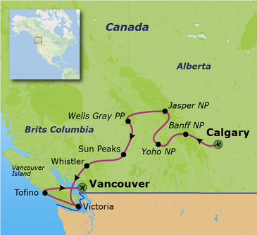 Route Canada, 20 dagen
