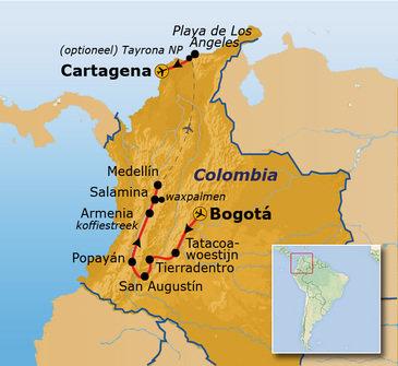 Route Colombia, 22 dagen, vertrek 20-12-2019