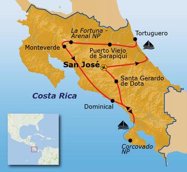 Route Costa Rica Pop-Up , 16 dagen