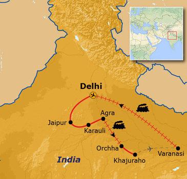 Route Noord India, 14 dagen