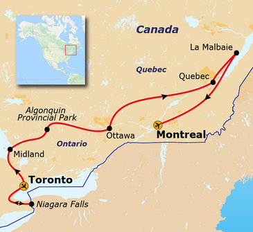 Route Oost-Canada, 12 dagen