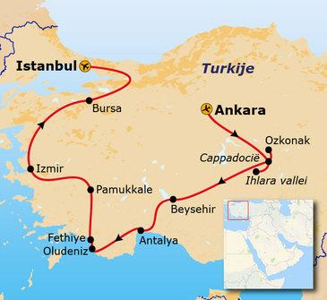 Route Turkije, 14 dagen