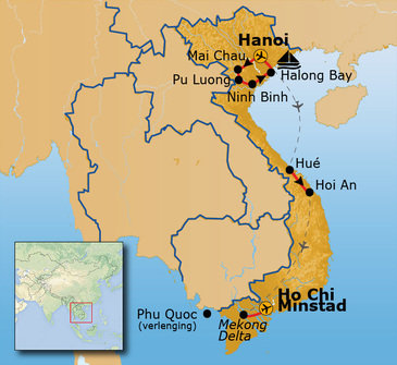 Route Vietnam Hoogtepunten, 18 dagen