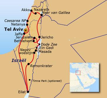 Route Israël 2020, 12 dagen