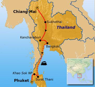 Route Thailand, 18 dagen