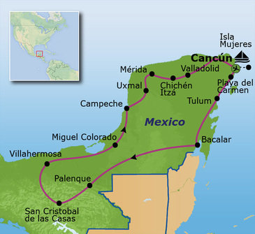 Route Mexico, 21 dagen, 2021