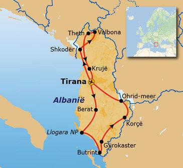 Route Albanië 2020