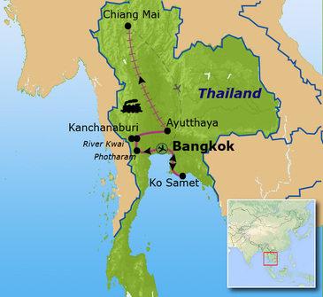 Route Thailand, 15 dagen, (2020)