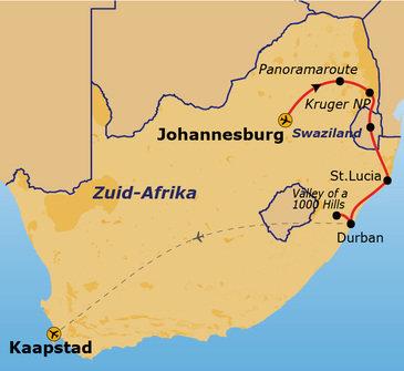 Route Zuid-Afrika, 17 dagen