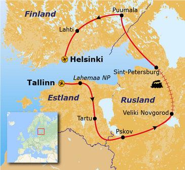 15 dagen, Route Estland, Rusland en Finland, vanaf 2020