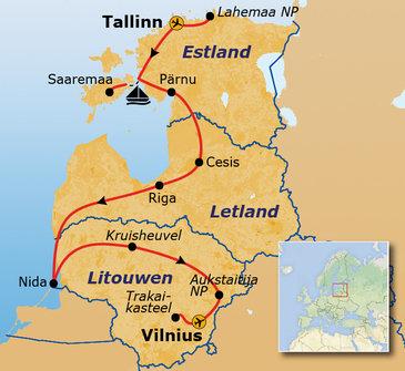 Route Baltische Staten, 16 dagen