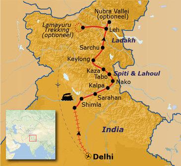 Route Spiti & Ladakh, 23 dagen