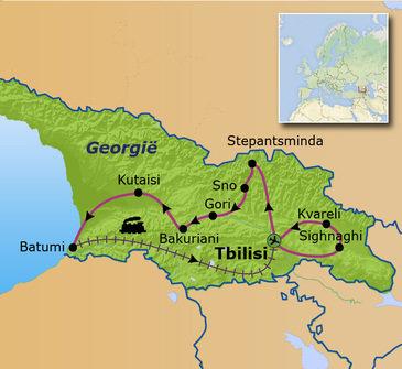 Route Georgië familiereis 2020
