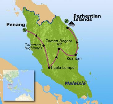 Route Maleisië, 18 dagen