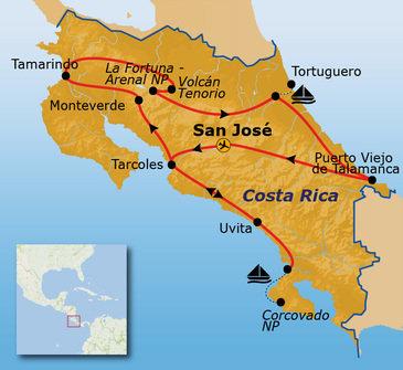 Route Costa Rica, 20 dagen