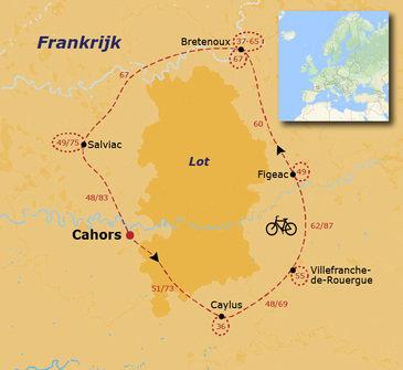 Fietsvakantie Lot, Quercy en Dordogne