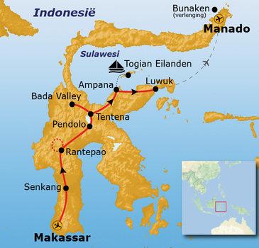 Route Sulawesi, 25 dagen