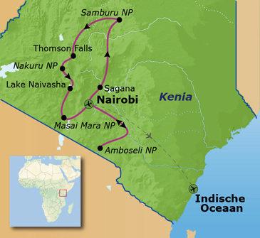 Route Kenia, 18 dagen