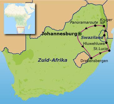 Route Zuid-Afrika, 16 dagen