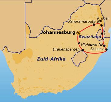 Route Zuid-Afrika, 14 dagen