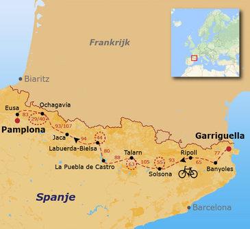 Fietsvakantie Spaanse Pyreneeën O-W - 15 dagen