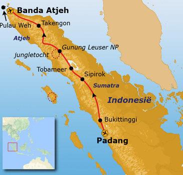 Route Sumatra en Atjeh, 25 dagen