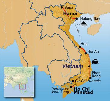 Route Vietnam, 22 dagen (t/m vertrek 2019)
