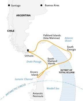 Antarctica eclips reis, 24 dagen