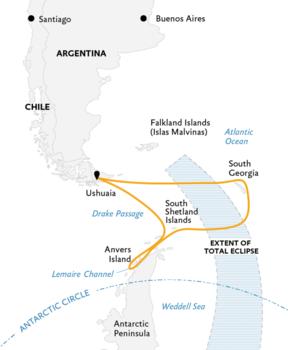 Antarctica eclips reis, 21 dagen