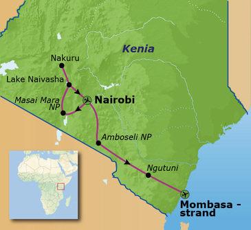 Route Kenia, 17 dagen
