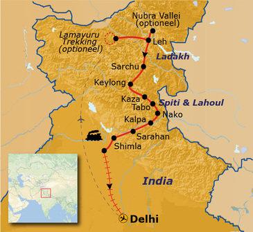 Route Spiti & Ladakh, 23 dagen - vertrek 26 juli