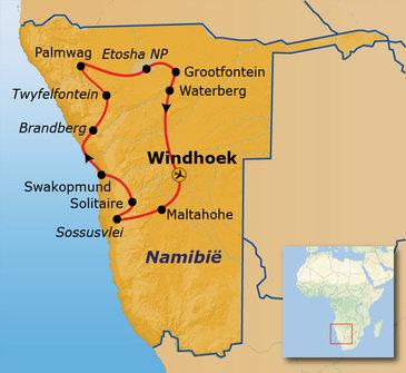 Route Namibië, 20 dagen