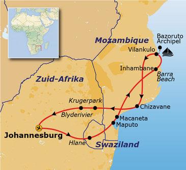 Route Zuid-Afrika en Mozambique, 18 dagen