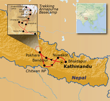 Route Nepal Annapurna